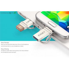 EAGET Micro USB OTG 32G Pendrive Metal Flash Disk with Key Ring for Android Phone PC Laptop